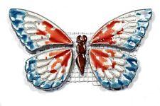 Mosaiksteine -SCHMETTERLING- Farbe:silber-blau-rot -Grösse:14x8cm-handmade