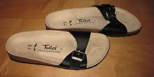 New Tulai / BIRKENSTOCK Black Leather Sandals 36.5 Ladies  5.5 / 6