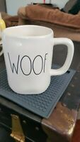 Rae Dunn Artisan Collection by Magenta WOOF Mug Ivory with LL Lettering