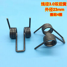 3mm Wire Diameter 23mm OD Double Torsion Spring Strong Rotating Springs 30mm L