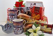 Couples Christmas Tea & Cake Hamper Gift Box Ladies Men Mum Dad Nan Grandad