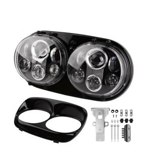 5.75 INCH MOTORCYCLE DUAL PROJECTOR DAYMAKER LED HEADLIGHT Harley ROAD GLIDE