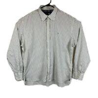 Tommy Hilfiger Men's Striped Long Sleeve Shirt - Size XXL