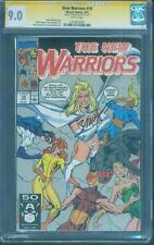 New Warriors 10 CGC SS 9.0 Mark Bagley White Queen Hellions Emma Frost no 8