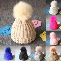Unisex Baby Cap Beanie Boy Girl Toddler Infant Children Crochet Soft Cute Hats