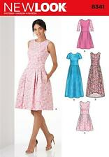 NEW LOOK PATTERN Misses' Dress in Three Lengths SIZE 6 - 18 6341