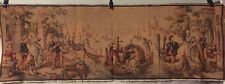 Vintage Belgium Wall Tapestry - Victorian Canal Scene