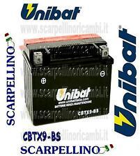 BATTERIA UNIBAT CBTX9-BS CON ACIDO HONDA TR FAT CAT 200 cc  -BATTERY- YTX9-BS