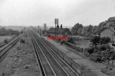 PHOTO  BRANSTON RAILWAY STATION STAFFS REMAINS 1962 MIDLAND RLY DERBY - RAILWAY