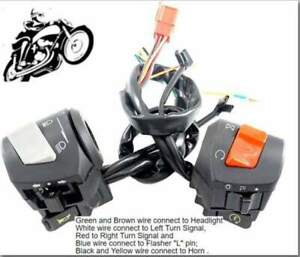 """7/8"""" Universal Right/Left Motorcycle Horn~Turn Signal~Light Control Switches"""