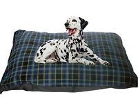 CosiPet® XL Waterproof Rhomboid Memory Foam Chips Cushion Dog Bed Blue Check
