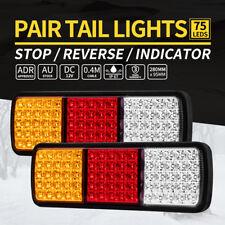 2x Lightfox LED Tail Stop Indicator Combination Lamp Submersible Light 12V ADR