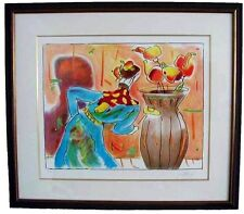 """Peter Max """"Robed Man & Vase"""" Framed Limited Edition Lithograph Hand Signed COA"""