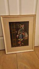 "Ram Bhakta watercolour. Signed original framed. ""Deodasi Slave of God"" Brilliant"