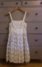 NWOT Anthropologie dress Lil ivory embroidered lace vintage style fit-flare sz 4