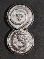 2020 Fafnir Dragon Germania Beasts  2x 1 oz Silver Set Double Capsule
