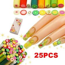 Nail Accessory Polymer Clay Art Fimo Fruit Decoration Slice Rod Sticks DIY 25pcs