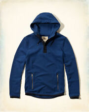 NWT Hollister by Abercombie MEN Blue Contrast Hoodie, SMALL