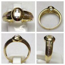 14 Karat  Ring 585 er Gold Goldring Goldschmuck Zirkon 57 (18,1 mm Ø)