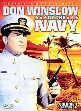 Don Winslow of the Navy - Vol.1 and Vol. 2 Chapters 1-6 & 7-12 1942 (DVD, 2004)