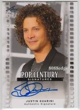 "2011 LEAF POP CENTURY AUTO: JUSTIN GUARINI ""AMERICAN IDOL"" RUNNER-UP AUTOGRAPH"