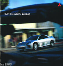 2001 MITSUBISHI ECLIPSE Catálogo / CATALOG con tabla de colores: RS, GS, GT