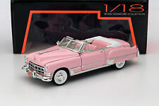 CADILLAC 1949 COUPE DE VILLE OPEN CONVERTIBLE in PINK 1.18 SCALE