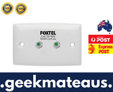 Universal Dual F-Type Wall Plate for TV Antenna Aerial suits Optus Cable Foxtel