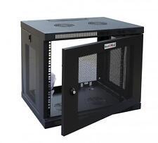 New Black 12U Wall Mount Rack Enclosure Server Cabinet Door/Sides