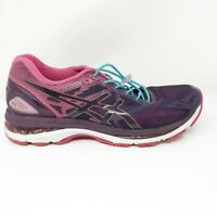 Asics Womens Gel Nimbus 19 T750N Pink Purple Running Shoes Lace Up Size 9