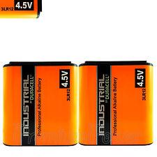2 x Duracell 3LR12 batteries 4.5V Industrial Alkaline MN1203 1289 Lantern EX2020
