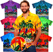 Very Loud Funky Hawaiian Mens Shirt Parrot Multi Unisex Short-Sleeve