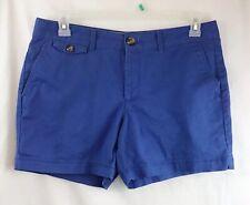 Dockers Women's Petites blue chino shorts Size 12p 5 Inch Inseam