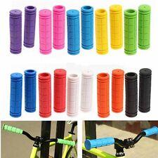 Mtb Bmx Bike Cycling Bicycle Handle Handlebar Soft Rubber Bar End Hand Grips C#