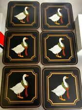 vintage Pimpernel Coasters Christmas Goose set of 6 boxed unused and in uk