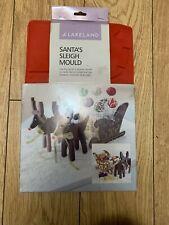 Lakeland Santa Sleigh Chocolate Mould Rare & Used Once