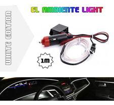 LED Ambiente Innenraumbeleuchtung EL Lichtleiste Ambientebeleuchtung 1m Weiß
