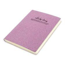 PVC Cover Pink Glitter Powder Decor Diary Memo Book Notepad 80 Sheets E2I1