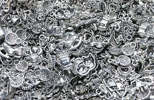 WHOLESALE CLEAROUT 50-300 Mixed Charms Bulk Different Designs Random Mix