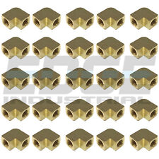 Brass Elbow Fitting 90 Degree 1/4 Female Npt Pipe Thread Air Fuel 25 Pack