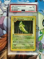 Metapod 1st edition Base Set 1999 Shadowless PSA 8 Pokemon Card Game