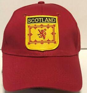 Cap Scotland Coat of Arms Rampant Lion Soft Sided Hat Adjustable