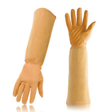 Goatskin Leather Thorn Proof Garden Gloves with Long Cowhide Gauntlet for Flower