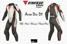 NEW - DAINESE AVRO DIV D1 2-PC MENS SUIT BLACK WHITE FLUO RED EU 48 US 38