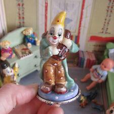 Dollhouse Porcelain CIRCUS MUSICIAN CLOWN NURSERY TOY Miniature Statue Figurine