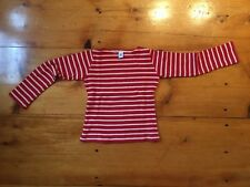 Girls Petite Bateau Long Sleeve top red and white stripes size:10 years