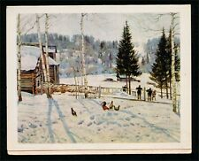 The End of Winter. Noon by Konstantin Yuon Vintage Soviet Fine Art Greeting Card