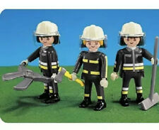 New Playmobil 7714 Firefighters Fireman 3 figures With Tools