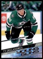 2020-21 UD Series 1 Base Young Guns #213 Ty Dellandrea RC - Dallas Stars