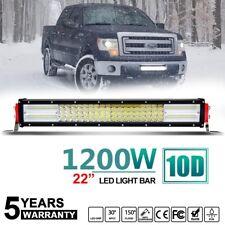 """10D 22"""" 1200W STRAIGHT LED WORK LIGHT BAR SPOT FLOOD Combo lamp VS 24"""" 23""""/ 20"""""""